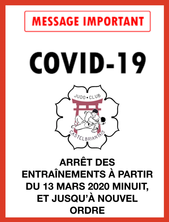 ANNULATION DES COURS - COVID 19