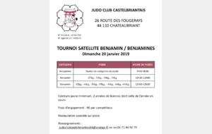 TOURNOI SATELLITE BENJAMIN/ES
